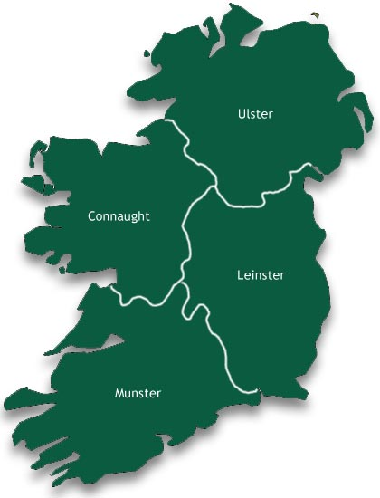 Map Of Ireland Leinster.Softball Ireland