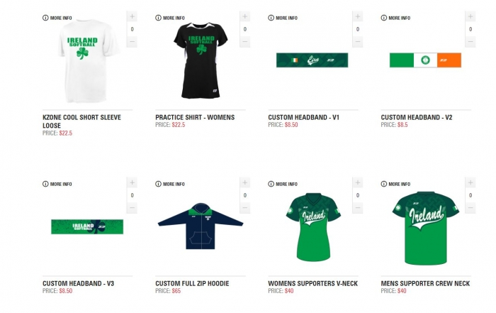 Softball Ireland Clothing Store – NOW OPEN