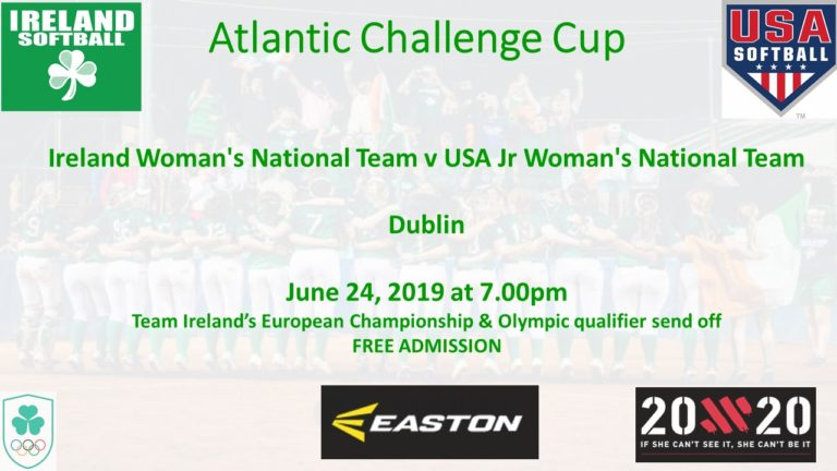 Ireland to Host USA in inaugural Atlantic Challenge Cup