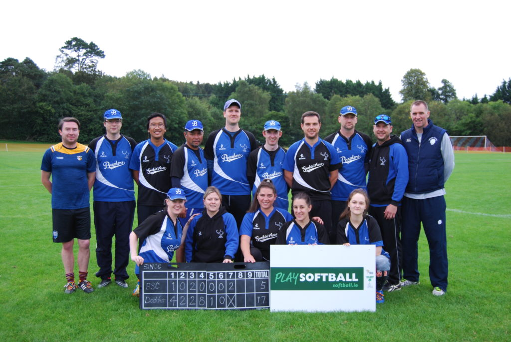 Belfast Softball Club at the Softball Ireland National Club Championship in 2019.
